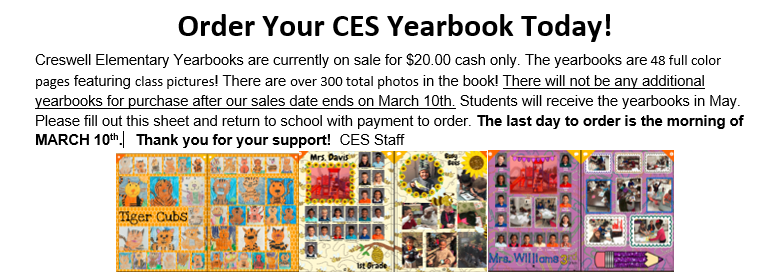 YEARBOOKS ON SALE NOW!!!