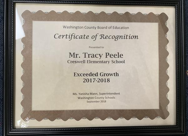 CES Exceeded Growth  We are super proud of our Tiger Cubs.  Keep up the good work!