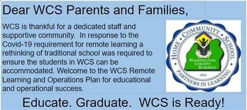 WCS Remote Learning Plan is Available!