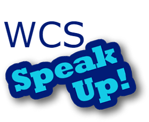 WCS speak up image logo